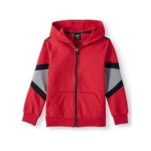 1 LEFT! NWT Red Interlock Zip Up Hoodie Jacket